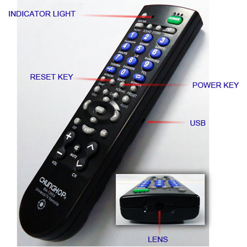 Spy camera remote